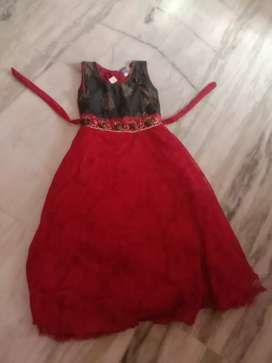 Red colour frock