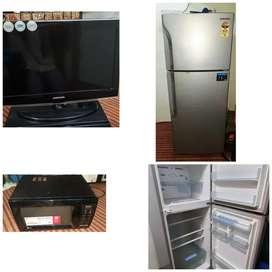 Selling new fridge, T.V , Micro-oven