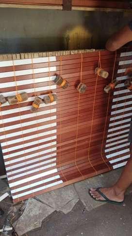 Tirai kayu krey kayu pvc 11