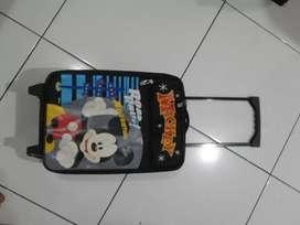 Koper trolley mickey mouse hitam size S