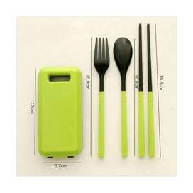 sendok travel set / alat makan portable