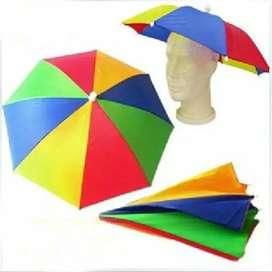 Topi payung headband umbrella
