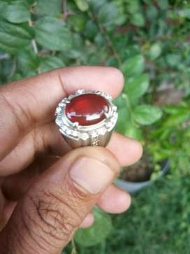 Cincin Batu Natural Red Baron Asli Pacitan Jaminan No Dyed