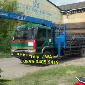 Truk Mitsubishi Fuso 8DC9 th2003 + Crane 7 ton Tadano bagus siap kerja