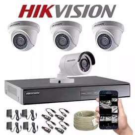 Harga Termurah. CCTV 4 chanel Pantau Melalui Hp. Sejabotabek
