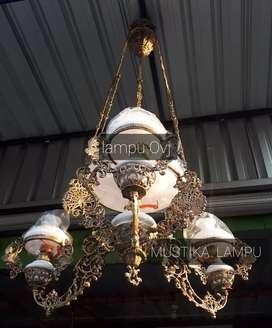 Lampu Gantung Antik Klasik Ovj hias Dekorasi Joglo gebyok
