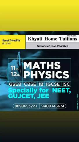 Khyati Home Tuitions for  SCIENCE and MATHS