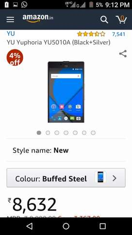 YU Yuphoria YU5010A 2gb 4g Mobile with original bill