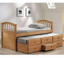 Slider bed plus draws
