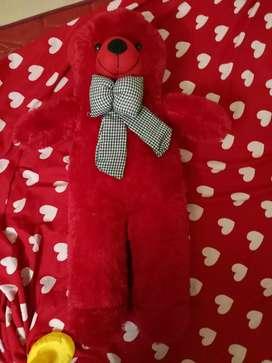 Red colour teddy bear
