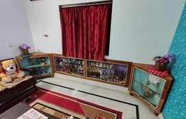 triangular wooden show case