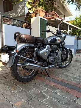 RE classic 350 silver well maintained