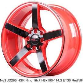 Toko pelek NE3 JD265 HSR R16X7 H8X100-114,3 ET30 RED/BLACK FACE