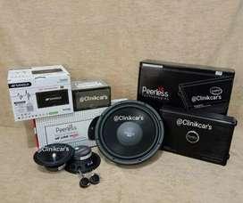 • Paket audio mobil + Headunit Sansui