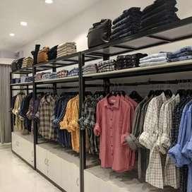 1500 sqft men's wear shop at palarivattom