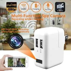 Motion Detection Spy Mobile Charger Camera with Crystal Clear Audio