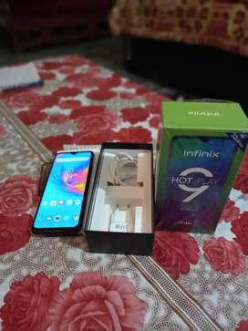 Infinix hot 9 play  6 month warranty   full box