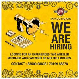 REQUIRED EXPERIENCED MECHANIC