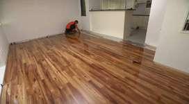 Flooring/lantai kayu solid