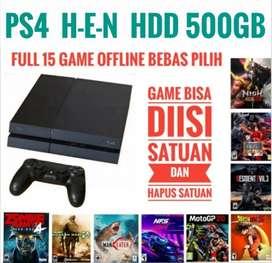 PS4 Fat 500GB Mrh Bonus 15 game Favorite bebas pilih