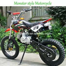 125 cc Motocross bike with petrol engine