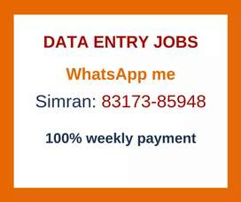 Earn monthly 30,000 with easy data entry job. Apply now