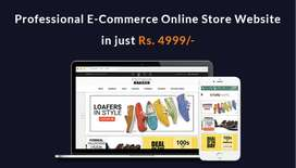 Ecommerce online store website in just 4999/- PKR only