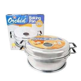 Baking pan orchid 28cm/alat panggang bolu,anti karat&anti lengket.