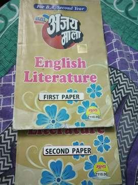 English literature BA 2nd year