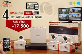 Hikvision CCTV 4 Cameras Package