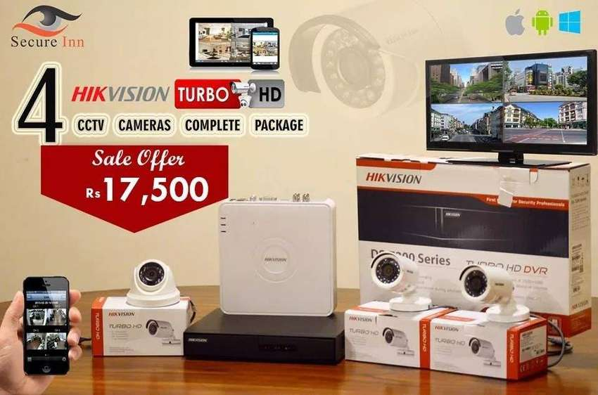 Hikvision CCTV 4 Cameras Package 0
