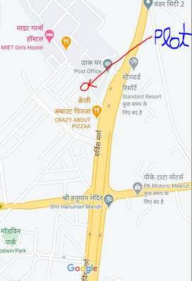 East facing plot in sarthak city 300 mtrs from NH 58 and near MIET