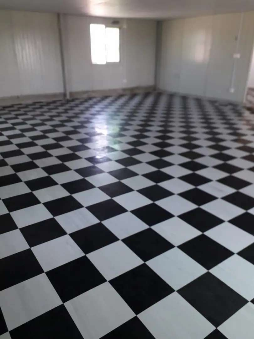 Vinyl floor 'all color's stock available.foot bye foot tiles..