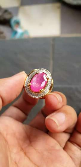 Natural ruby cutting