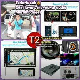 Komplit 2DIN LAYAR 7INC ANDROIDLINK FULL HD+PAKET AUDIO harga grosir