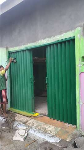 Folding gate berkualitas rolling door harmonika bagus