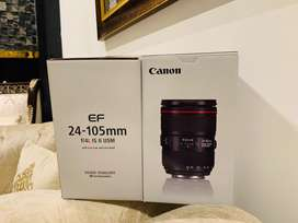 Canon 24-105 F4L IS ii box Packed with warranty