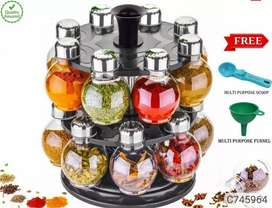 125 ml 16 Jars Revolving Spice Rack