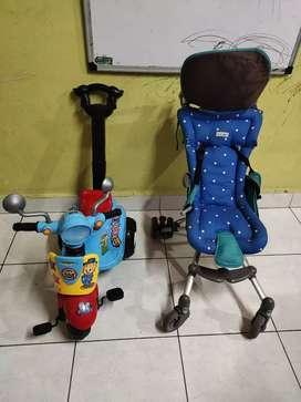 Jual stroller dan sepeda anak jual keduanya