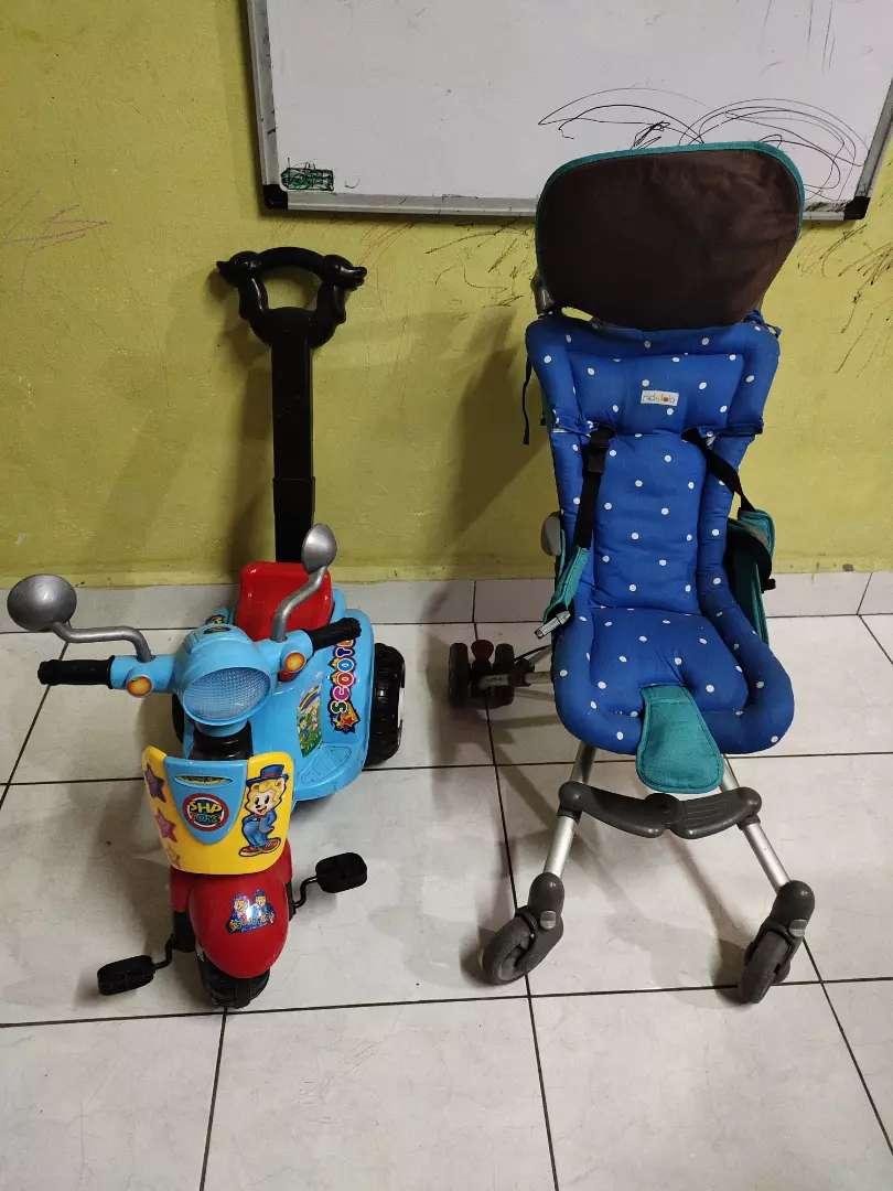 Jual stroller dan sepeda anak jual keduanya 0