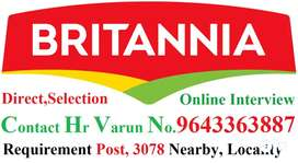 Britannia Company- Full Time Job Helper Store Keeper Supervisor Apply