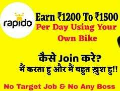 part time full time job in rapido bike taxi in Patna