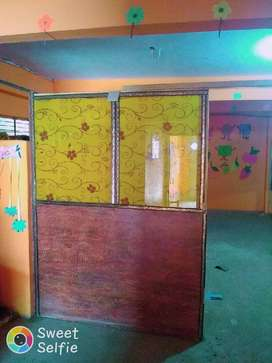 Wood glass door ,well  ready to use office , school beauty parlor