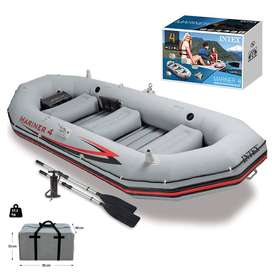 Inflatable Kayaking Dinghy Fishing Boat Set, 5 Person