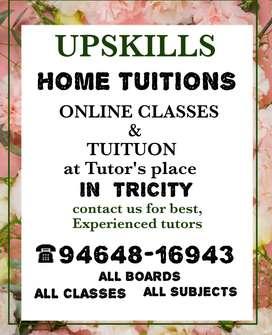 Home tutor in mohali panchkula ZIRKPUR Chandigarh