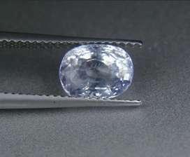 Light blue sapphire 2.63ct safir ceylon unheted clean brilliant luster