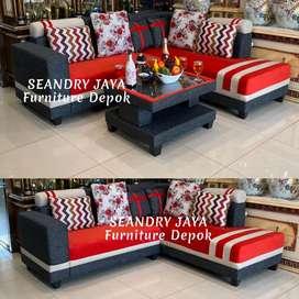 SEANDRY JAYA Furniture Depok/sofa sudut minimalis/kursi/bed/kayu/murah