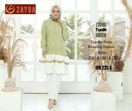 Tunik green by zayda