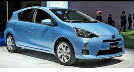 Now get a new car Toyota Aqva2019 on just20% down payment
