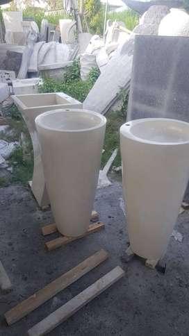 Washtafel silinder T80cm white Ujnik